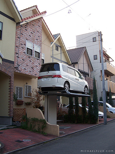 Un estacionamiento particular
